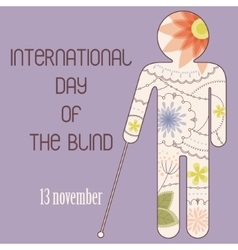 Day of the blind backdground vector