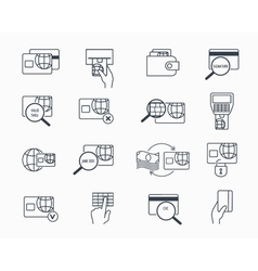 Debit and credit card payment icons Safe vector