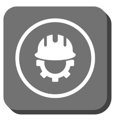 Development Hardhat Rounded Square Icon vector image