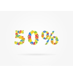 Discount 50 percent colorful vector image vector image