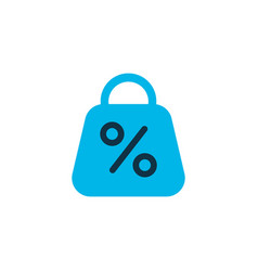 Discount icon colored symbol premium quality vector