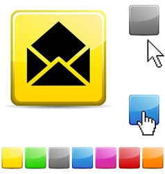 e-mail glossy button vector image