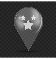 Favourites Glossy Icon vector image