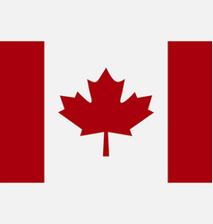 flag canada in flat style vector image