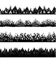 flame and fire background seamless pattern in vector image