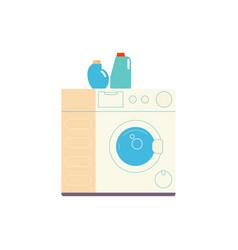 flat washing machine icon vector image