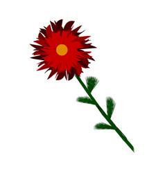 Flower icon on white vector