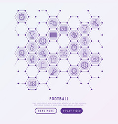 football concept in honeycombs vector image