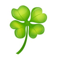 Four leaf clover on st patrick day vector