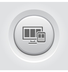Fully responsive web design icon vector