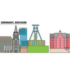 germany bochum city skyline architecture vector image