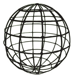 Grid-shaped globe black grille on white background vector