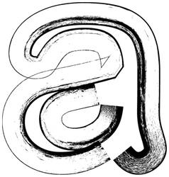 Grunge Font letter a vector image