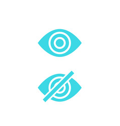 Hide show icons with eye vector