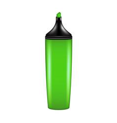 highlighter pen in green design vector image