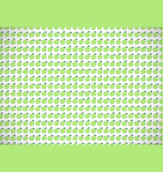 Horizontal card pattern with cartoon green apples vector