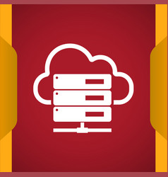 Hosting server icon for web and mobile vector