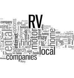 How to find rv rentals vector