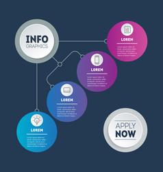 Info chart vector