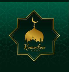 Islamic ramadan kareem design background vector