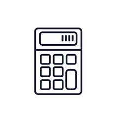 Isolated calculator icon line design vector