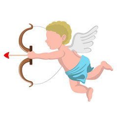 isolated cupid angel with a bow vector image