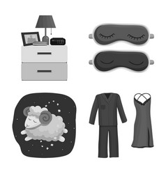 Isolated object of dreams and night icon set of vector
