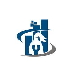 Knight e commerce logo design template vector