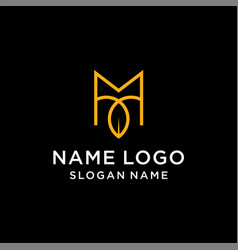 Letter m leaf logo vector
