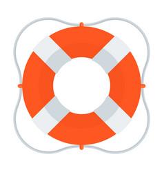 Lifebuoy color icon vector