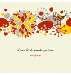 Love birds pattern vector