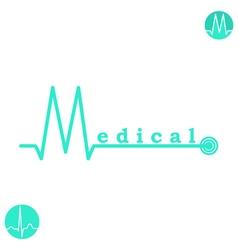M letter medicine logo template vector