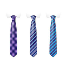 Man colored tie set tie mockup with different vector