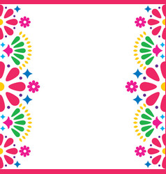 Mexican folk wedding or party invitation vector