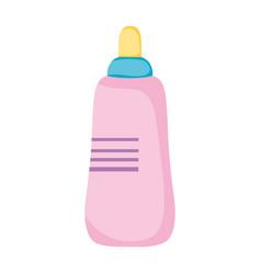 Milk bottle baby icon vector