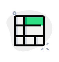 Mixed size section in frame with tile layout vector