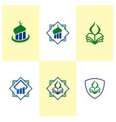 Mosque logo design icon template vector