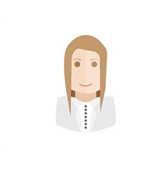 object businesswoman avatar vector image