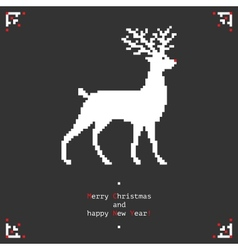 Pixel deer vector