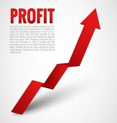 Profit Arrow vector image