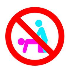 Prohibit public and unprotected sex ban symbol vector