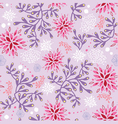 purple and pink underwater seaweed pattern vector image