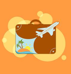 resort beach vacation vector image