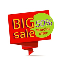 sale red paper banner vector image