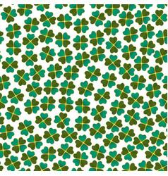 seamless light clover pattern vector image