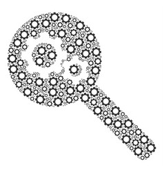 Search gears tool composition of cogs vector