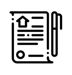 Selling buying agreement thin line icon vector