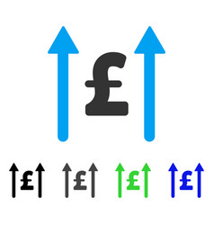 Send pound flat icon vector