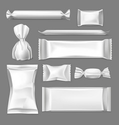 set isolated wrapper for confectionary products vector image