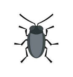 small bug icon flat style vector image